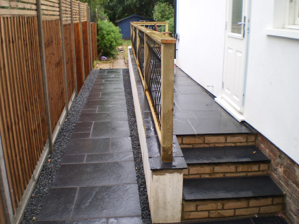 Black Limestone Paving & Steps