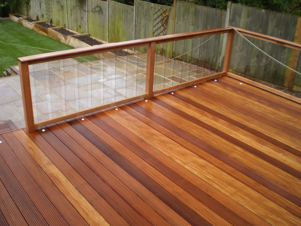 Glass Balustrading & Hardwood decking